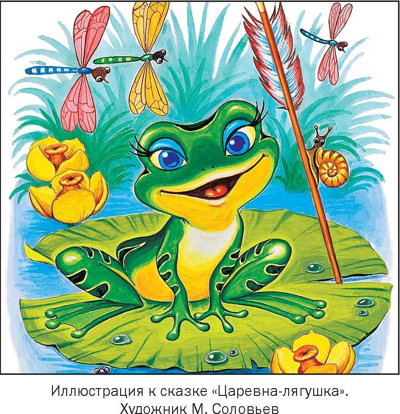 Рисунок к сказке о царевне лягушке на
